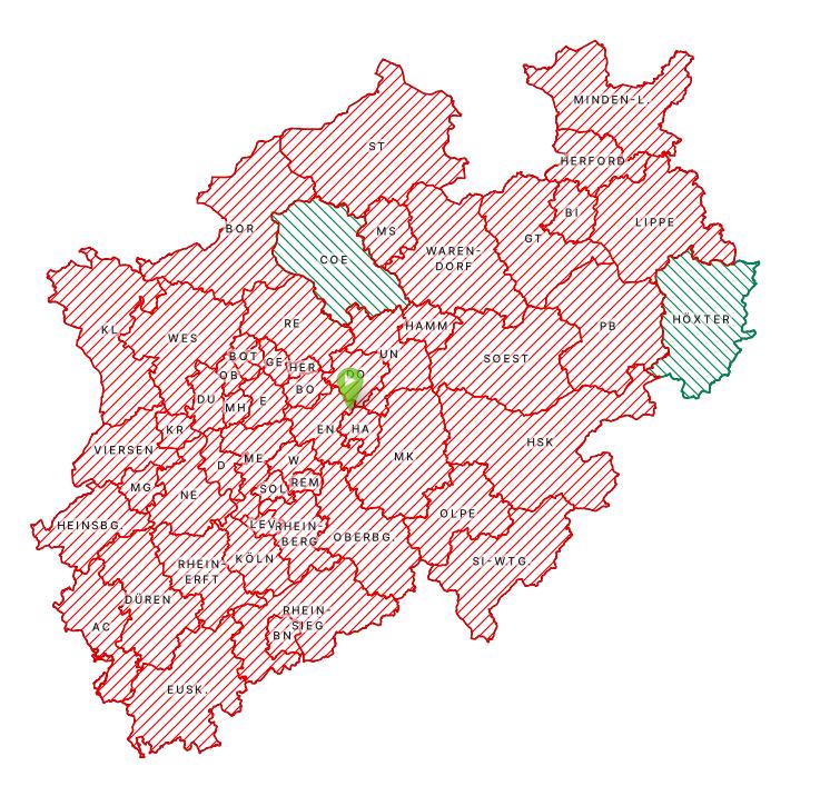 Covid-Karte NRW